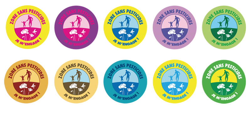 zone sans pesticides badges