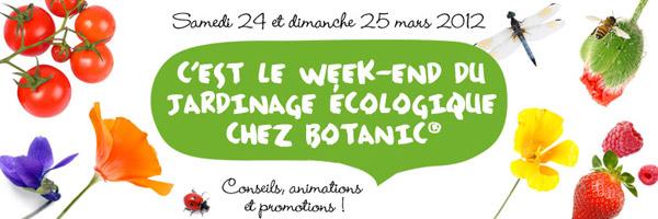 Week end du jardinage ecologique Botanic