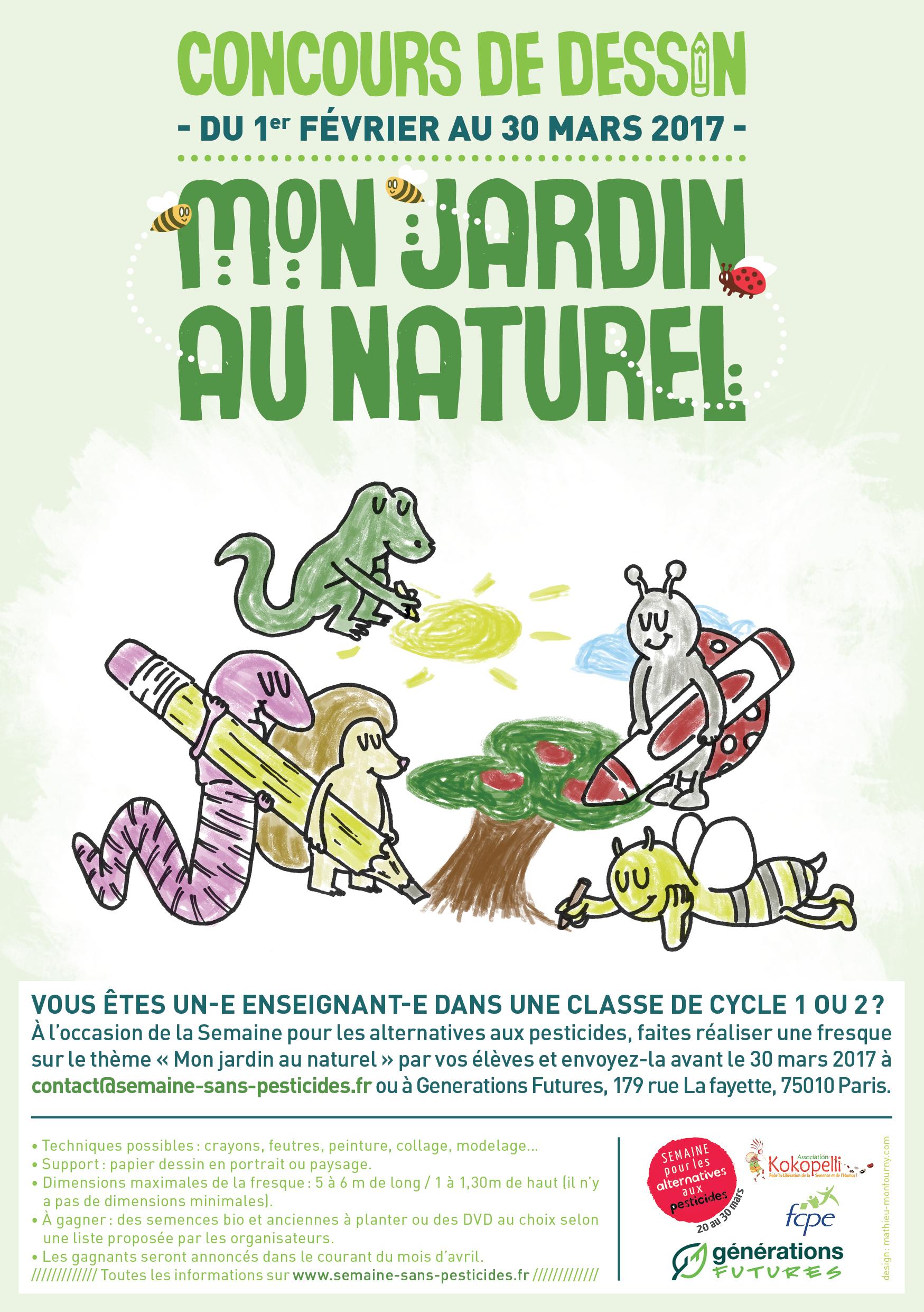 Semaine pour les alternatives aux pesticides concours de for Au jardin des sans pourquoi translation