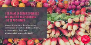 J-20 avant la semaine pour les alternatives aux pesticides